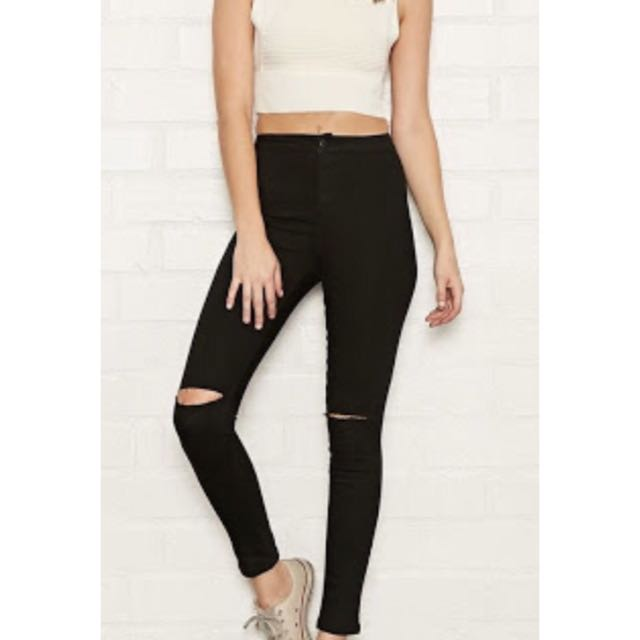 High Waisted Forever New Black Jeans
