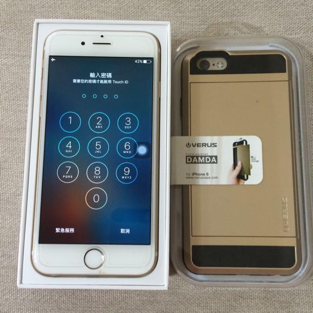 iphone6 64GB極新 金 + 超值保護殼