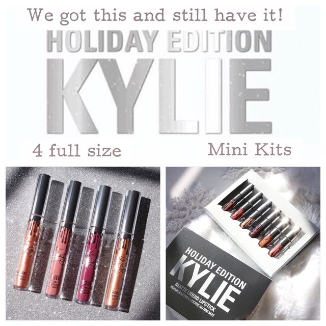 Kylie Holiday Edition Mini Mattes And 4 Full Size