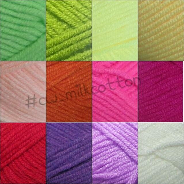 Milk cotton yarn / Benang Katun Susu