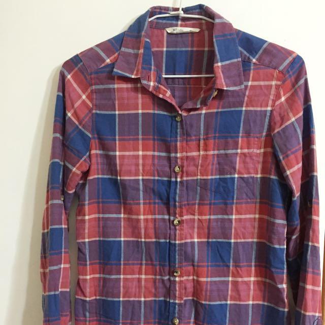 Net格紋襯衫