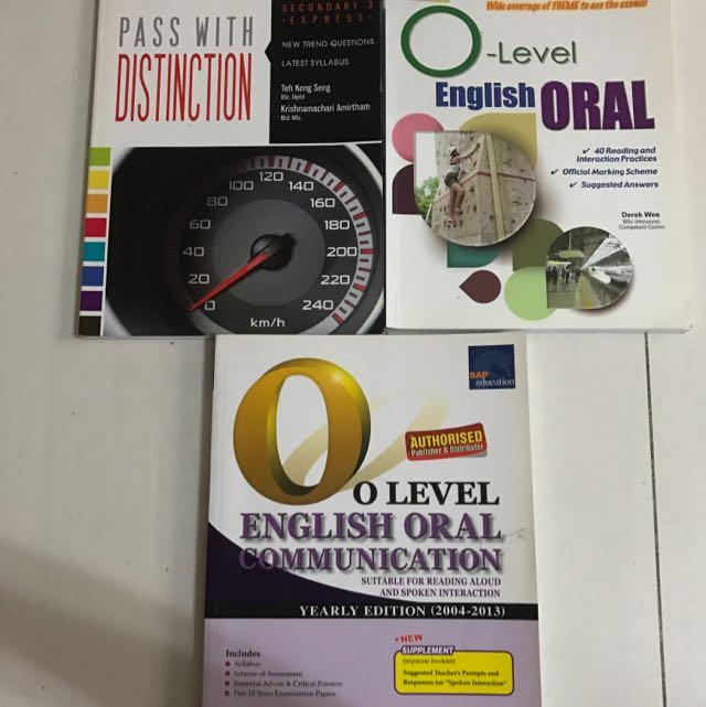 O Level English Oral And Sec 3 Mathematics