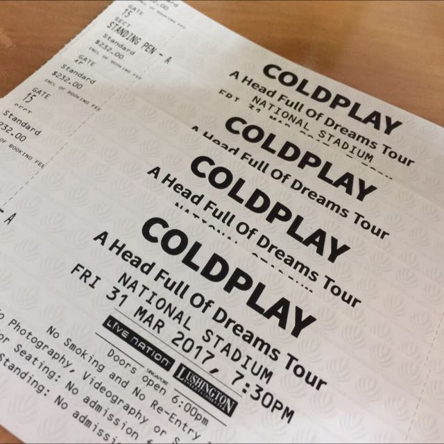 Pen A Coldplay Ticket For Auction