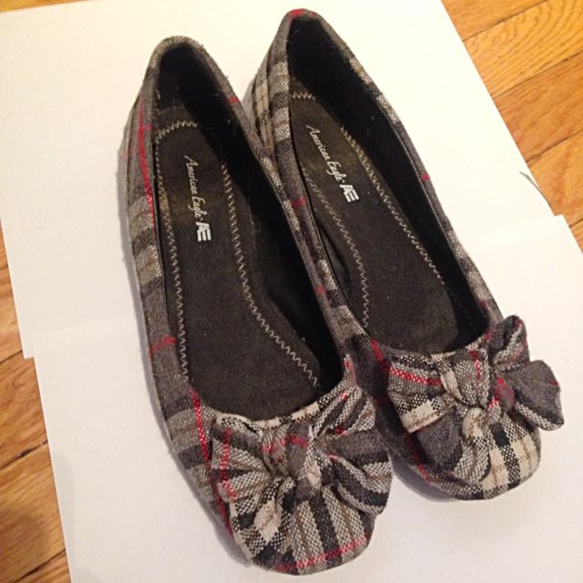 Plaid Flats With Bow