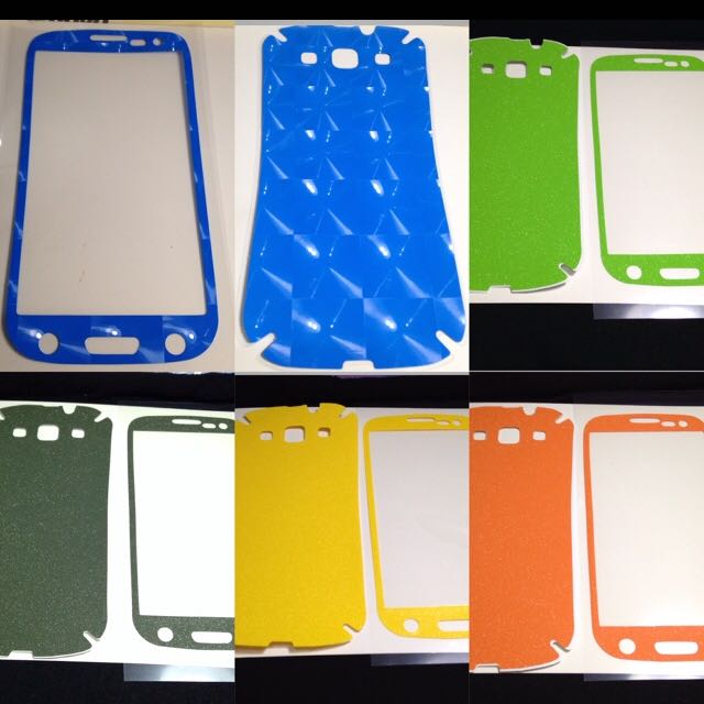 Samsung S3 Glittery Screen Protector / Skins