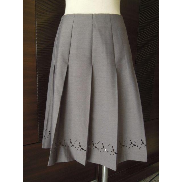 二手出清--SCOOP&CO.華麗鐵灰剪影寬版百褶裙#超取再七折