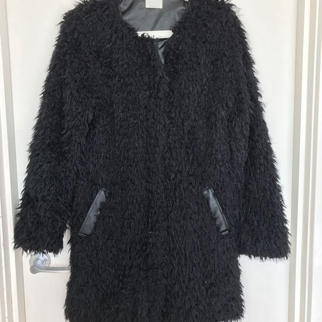 Shilla Faux Fur Jacket Size S
