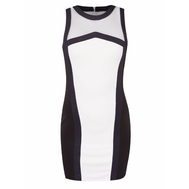 Something Borrowed Contrast Binding Bodycon Dress