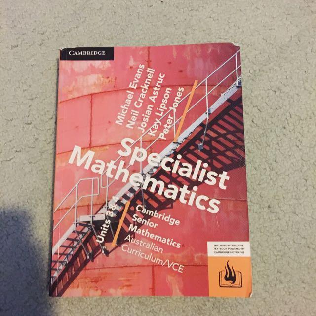 Cambridge Specialist Maths Unit 3&4 Textbook