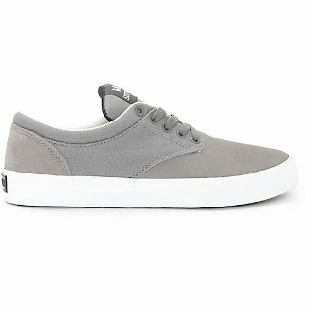 03d6b0a6df1c Supra Chino Magnet White Suede   Canvas Skate Shoes