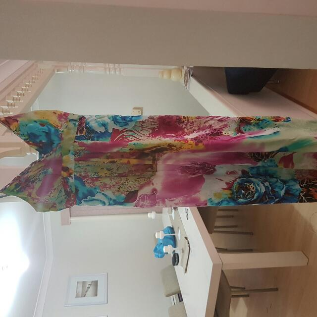 Sz 12 Brightly Coloured Padded Dress
