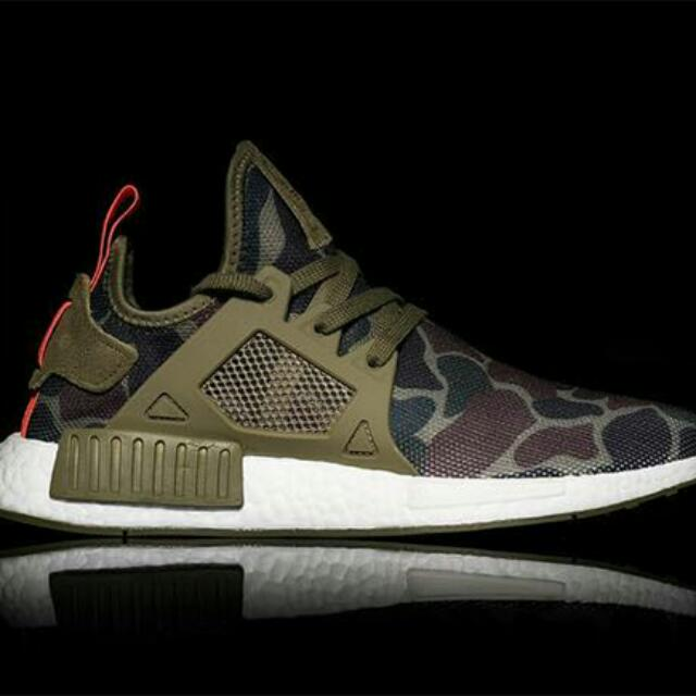 release date: a2c27 8538e US9.5 Adidas NMD XR1 Duck Camo Green Olive(reserved), Mens Fashion,  Footwear on Carousell