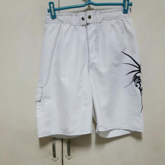 White Swimshorts For Boys