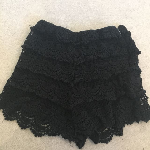Zara Black Lace Short