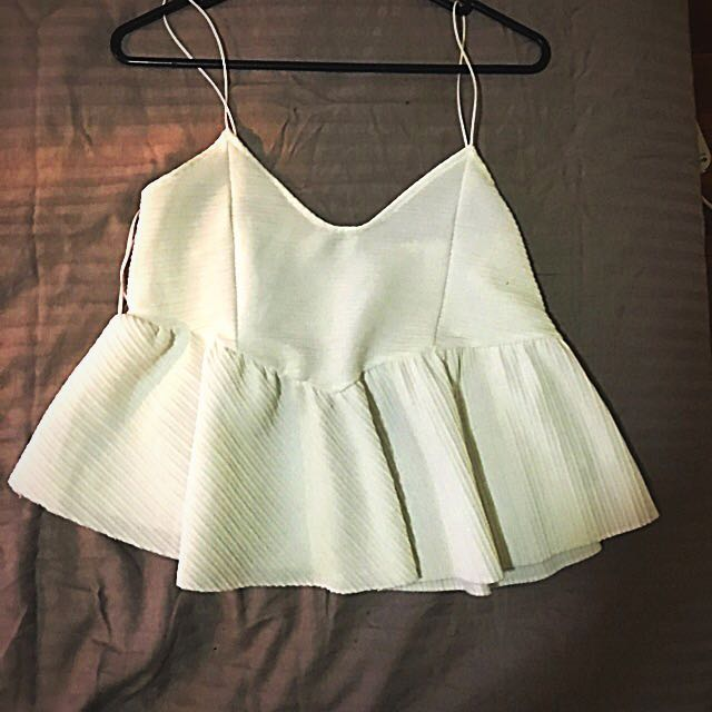 Zara Shoestring Top