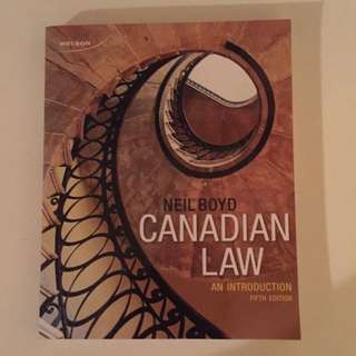 Justice Studies Textbook: Canadian Law