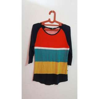 Preloved Top - Red Green Yellow Blue