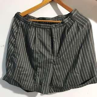 🚀pazzo 條紋高腰短褲