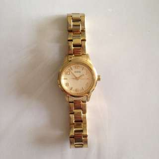 Gold Tone Guess Watch