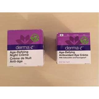 NEW Derma E Age-Defying Night Cream & Eye Cream