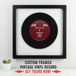 Custom Framed Vintage Vinyl Record