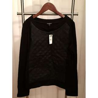 BRAND NEW tags on Express Pullover Sweatshirt (BLACK, SIZE XS)