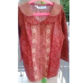Baju batik keris ukuran SS