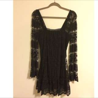 UO Lace Black Dress