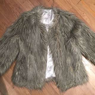 Faux Fur Jacket. Medium.