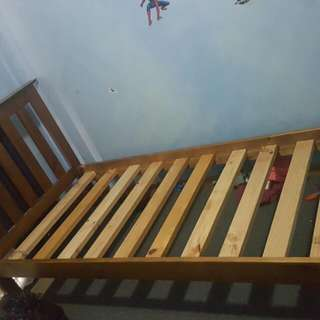 Solid SINGLE timber Bed Frame