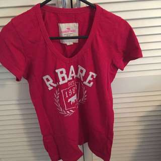 Running Bare Red Shirt Size 8