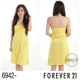 F21 Yellow Dress With Cup (Free Ongkir JABODETABEK)