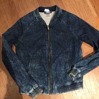 Adidas Denim Look Jacket. Size 8