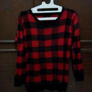 Black 'N Red Sweater