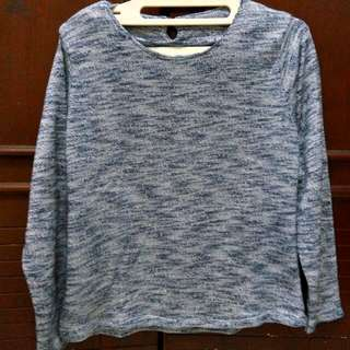 Blue N Grey Metalic Sweater