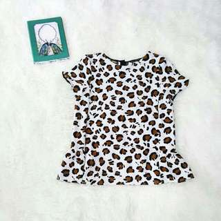 ZARA Leopard Shirt (Free Ongkir Jabodetabek)