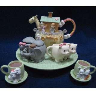 BNIB Precious Moments Miniature Noah's Ark Tea Set, Teapot, 270121