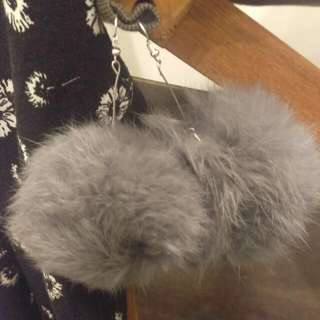 Fluffy Grey Earrings!