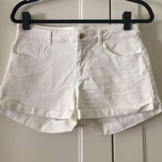 H&M White Denim Shorts Suit Size 10