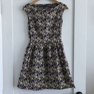 Handmade Printed Dress Size 6/8