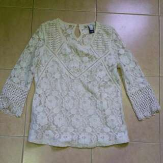 Mango Lacey Top Size S