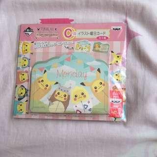 Pokemon Kuji Prize C Calendar