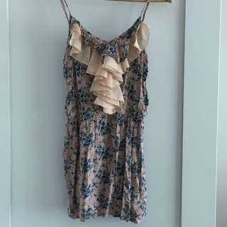 Size 8 Dress /top Pink And Patterned