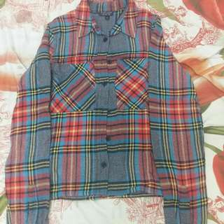 Checked Shirt Topshop