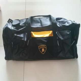 Authentic Lamborghini Carbon Fiber Design Duffle Bag