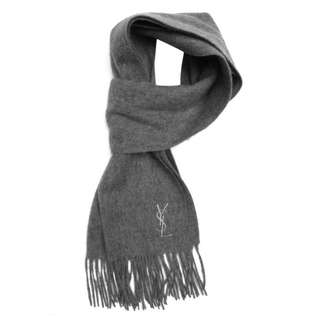Authentic Grey YSL Cashmere Scarf