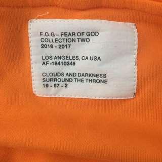 Fear Of God Orange Hoodie