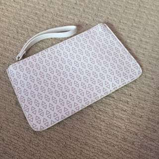 Cream Clutch With Wrist Strap. Never Used