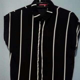 BADO Black And White Stripes Top