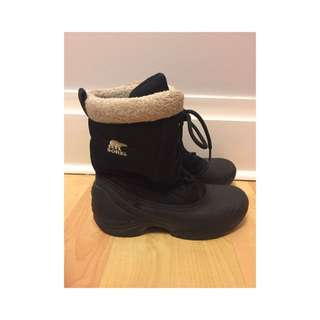 Black Sorel Waterproof Boots